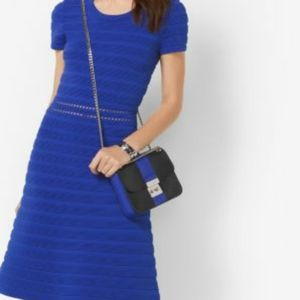 Nwt Michael kors ripped fit and flare royal dress